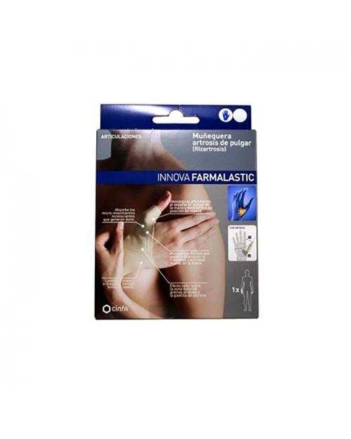 Farmalastic Innova muñequera artrosis de pulgar (mano derecha T-medio)