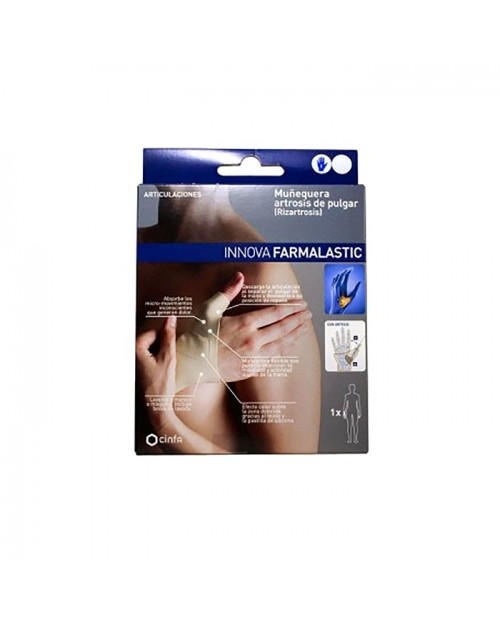 Farmalastic Innova muñequera artrosis de pulgar (mano derecha T-Pequeño)