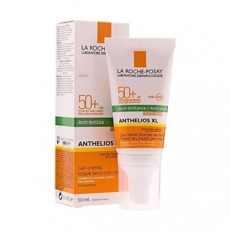 La Roche-Posay Anthelios XL SPF 50+ Gel-Crema Toque Seco Antibrillos Con Color 50ml